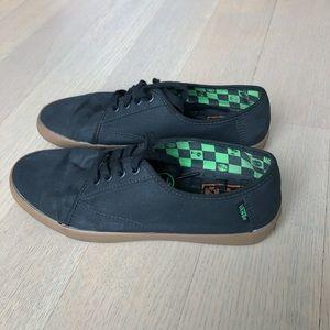 Vans Black Canvas Surf Shoes